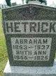 Profile photo:  Abraham Hetrick