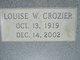 Louise <I>Wynn</I> Crozier