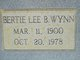 Bertie Lee <I>Beaty</I> Wynn