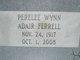 Perelee <I>Wynn</I> Adair Ferrell