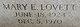 Mary E. <I>Lovett</I> Aaron