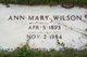 Ann Mary <I>Logan</I> Wilson