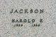 """Harold Eugene """"Bud"""" Jackson"""