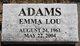 Profile photo:  Emma Lou <I>Gardippee</I> Adams