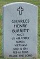 Profile photo: Sgt Charles Henry Burritt