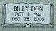 Profile photo:  Billy Don Burgess