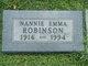 Profile photo:  Nannie Emma <I>Brady</I> Robinson
