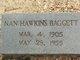 Nan <I>Hawkins</I> Baggett