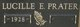 Lucille E <I>Morgan</I> Prater