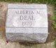 Profile photo:  Alberta M. Deal