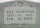 Profile photo:  Ada <I>Thornton</I> McCool