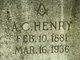 Profile photo:  A. C. Henry