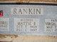Profile photo:  Mattie E. <I>Stayton</I> Rankin