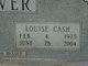 Louise <I>Cash</I> Stover