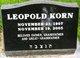 Leopold Korn