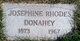 Profile photo:  Josephine Rhodes <I>Dorland</I> Donahey