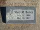 Mary Margaret <I>McCollum</I> Bailey