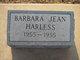 Profile photo:  Barbara J. Harless