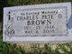 """Charles David """"Pete"""" Brown"""