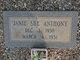 Janie Sue Anthony