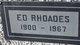 """Edgar Monroe """"Ed"""" Rhoades"""