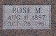 "Rhode ""Rose"" M. Warnick"