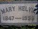 Mary <I>Trego</I> Helvie