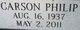 """Profile photo:  Carson Philip """"Phil"""" Priddy"""