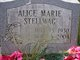 Alice Marie <I>Fisher</I> Stellwag
