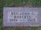 Rev John Carlton Roberts