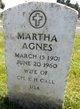 Profile photo:  Martha Agnes Call