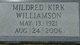 Mildred Jettie <I>Kirk</I> Williamson