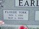 Flossie <I>York</I> Earls