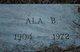 Profile photo:  Ala B. <I>Burrus</I> Caudle