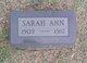 Sarah Ann Castles