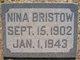 Nina Mary <I>Lane</I> Bristow