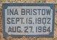 Ina Ann <I>Lane</I> Bristow