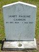Janet Pauline Cannon
