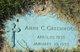 """Anne Cecelia """"Nancy"""" Greenwood"""