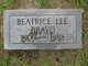 "Profile photo:  Beatrice Lee """"Bea"" and ""Neenie"""" <I>Powell</I> Bravo"