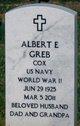 "Profile photo:  Albert Eugene ""Gene"" Greb"