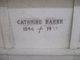 Cathrine <I>Baker</I> Baker