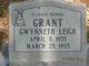 Gwynneth Leigh Grant