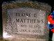 Elaine D. Matthews