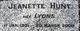 Jeanette <I>Lyons</I> Hunt