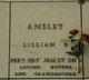 """Lillian Bush """"Toots"""" <I>Hedrick</I> Ansley"""