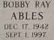 Profile photo:  Bobby Ray Ables