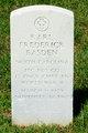 PFC Karl Frederick Basden