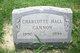 Charlotte <I>Hall</I> Cannon