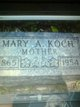 Mary Ann <I>Watson</I> Koch